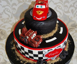 cakes, disney cakes, and red cakes image