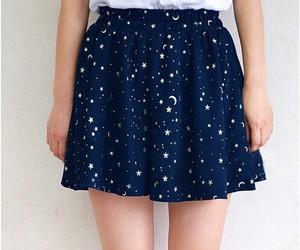 skirt, stars, and blue image