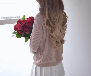 hair, rose, and fashion image