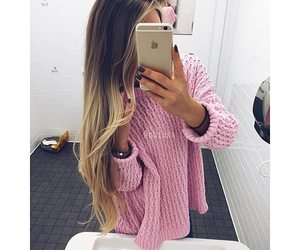 hair, blond, and iphone image