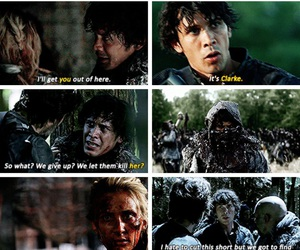 cw, bob morley, and clarke griffin image