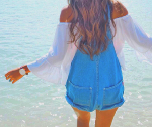 fashion, ocean, and outfit image