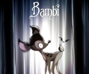bambi, disney, and tim burton image
