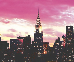 city, pink, and new york image