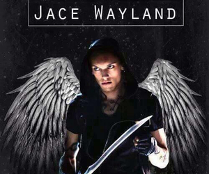 jace wayland, angel, and city of bones image