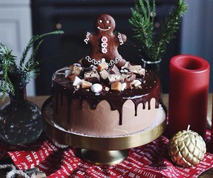 chocolate, chocolate cake, and gingerbread man image