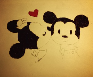cartoon, draw, and mickey image