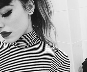 black and white, grunge, and makeup image