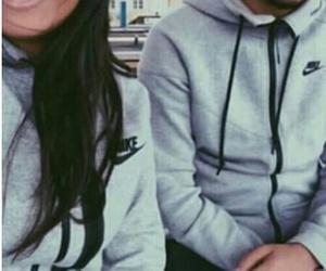 couple, nike, and boy image