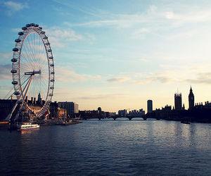 london, london eye, and city image