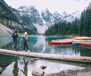 family, mountains, and travel image