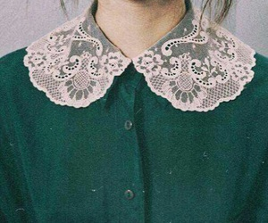 girl, vintage, and green image