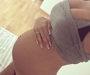 girl, pregnant, and Hot image