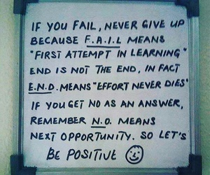 end and positive image