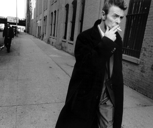 david bowie, black and white, and smoke image