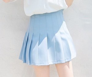 blue, skirt, and pastel image