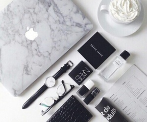 apple, white, and black image
