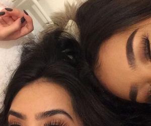 girl, eyebrows, and makeup image
