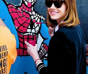 emma stone, spiderman, and paint image