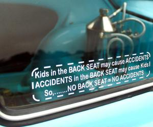 accident, back seat, and kids image