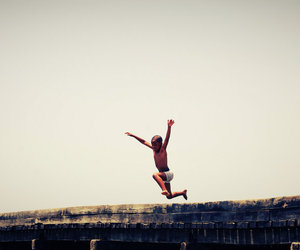 boy, photography, and jump image