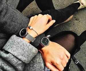 couple, fashion, and watch image
