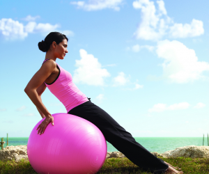 exercise, fitness, and pink image