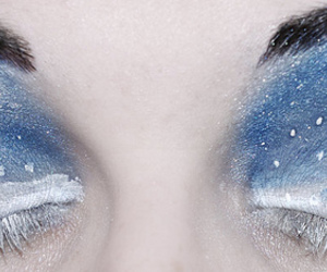 eyes, makeup, and winter image