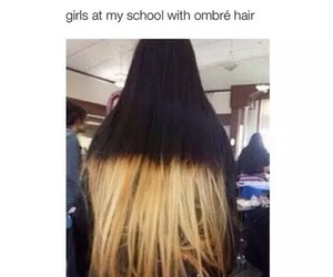 hair, funny, and girl image