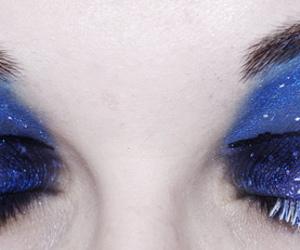 makeup, eyes, and moon image