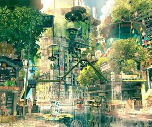 anime, city, and art image