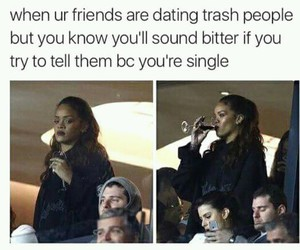 rihanna, funny, and single image