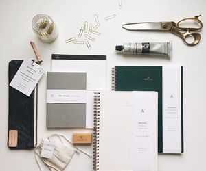 gold, organization, and stationery image