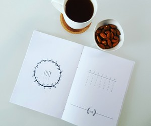 coffee, pen, and white image