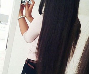 girl, long hair, and love it image