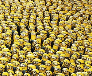 minions, yellow, and wallpaper image
