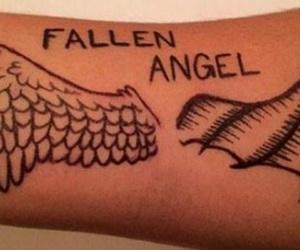 angel, demon, and fallen angel image