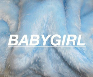 blue, babygirl, and aesthetic image