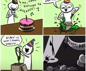 birthday, suicide, and sad image