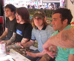 fall out boy, joe trohman, and andy hurley image
