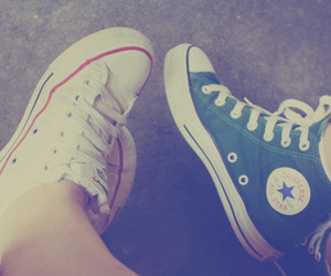 all star, vintage, and converse image