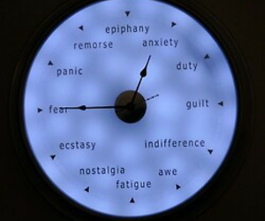 grunge, clock, and anxiety image