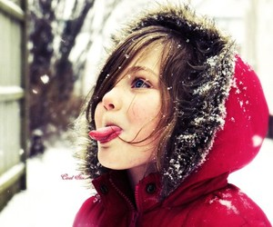 cute, child, and snow image