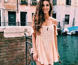 dress, hair, and summer image
