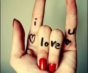 love, I Love You, and hand image