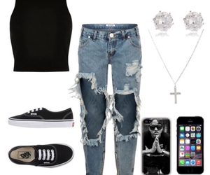 cross, Polyvore, and vans image