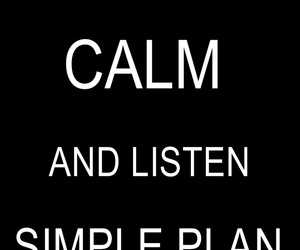 keep calm and simple plan image