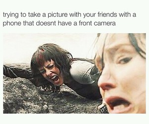 funny, friends, and hunger games image