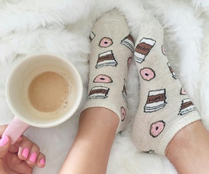 socks and coffe image