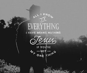 jesus and one thing image